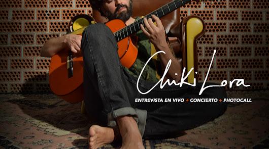 Chiki Lora se prepara para  su concierto en Almería