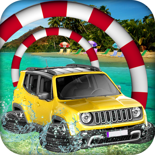Water Surfer Beach Racing Car & Jeep Float Driving