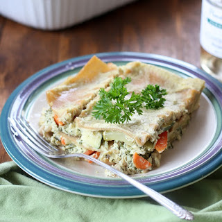 Vegan Lasagna Primavera with Pesto Cashew Cream Sauce