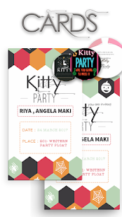 Invitation Cards For Ladies Party.  Kitty Party Invite Card Maker screenshot thumbnail Android Apps on Google Play