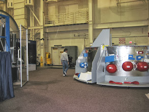 Photo: My brother visiting the JSC Space Mockup-Facility (Bldg 9) and checking out the internal Orion crew module subsystems.