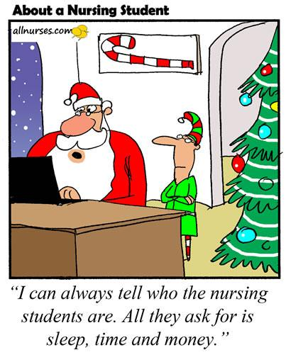 Image result for Nursing student cartoon christmas