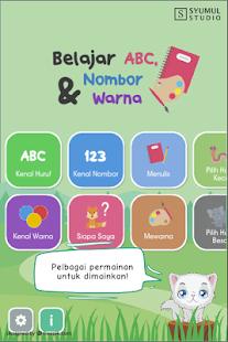 Belajar ABC, Nombor dan Warna - náhled