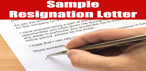 Resignation Letter Sample Programme Op Google Play