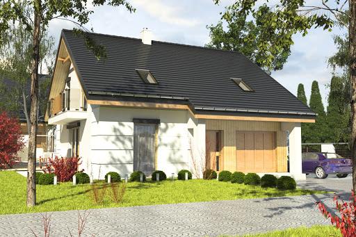 projekt Nowinka VI z garażem 1-st. A