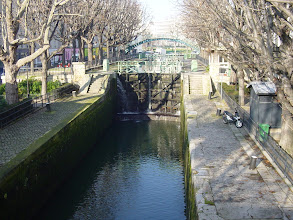 Photo: The are working waterways in the city other than the Seine, exemplified by this lock on the Canal St. Martin.