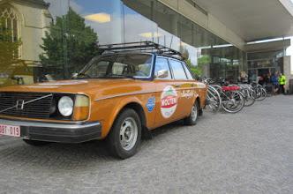 Photo: start in brasserie De Flandrien aan het centrum Ronde van Vlaanderen