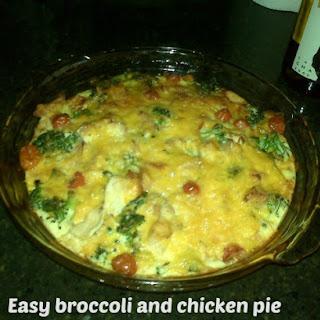 Broccoli and Chicken Pie.