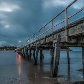 Victor Harbor to Granit Island by Sharon Wills - Buildings & Architecture Bridges & Suspended Structures ( water, sand, victor harbour, victor harbor, beach, jetty,  )