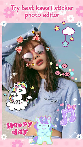 Cute Stickers for Photos ud83dudc9d Girl Pic Editor 1.0 screenshots 6