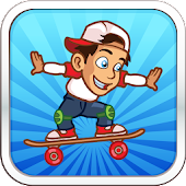 Crazy Skate Surfer Boy