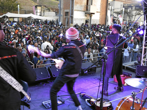 Wielding an axe: Sounds of Freedom on stage at Constitution Hill. The Afropunk festival will take place at the same venue. Picture: SUPPLIED