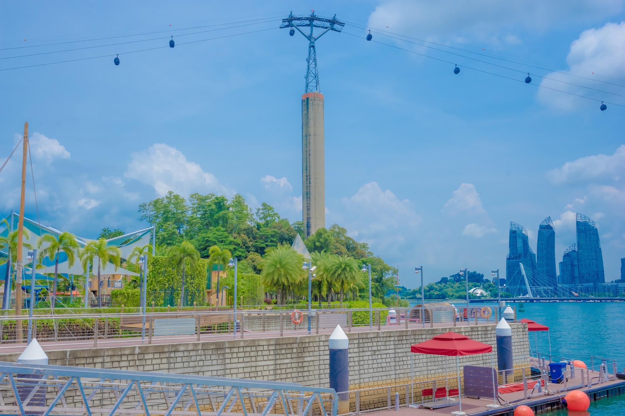 シンガポール セントーサ島 ケーブルカー