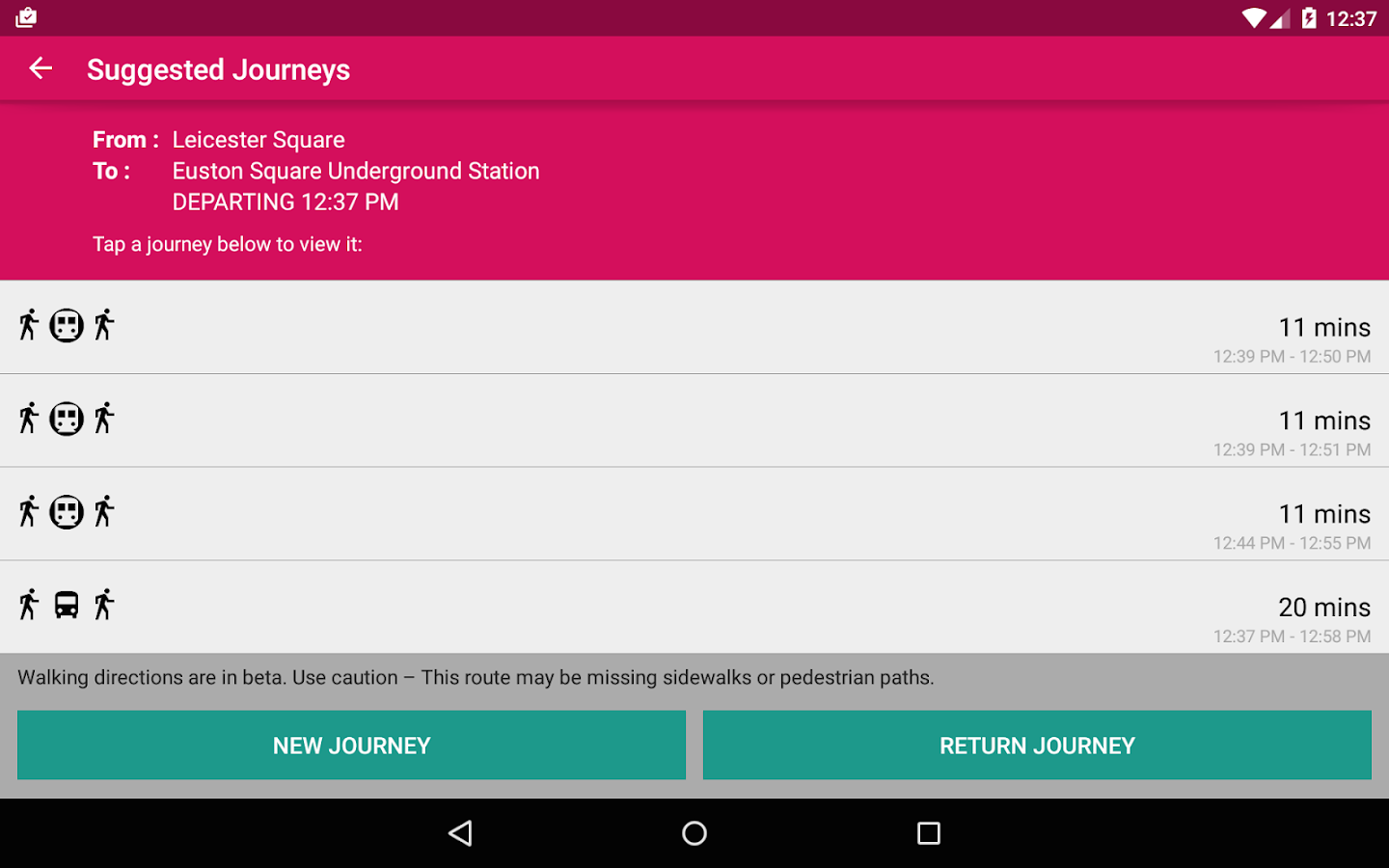 London Bus Checker- screenshot