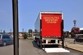 Photo: Deschutes Brewery truck making deliveries