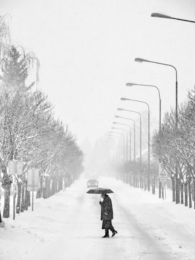 Winters of our lives by Zoran Stanko - People Street & Candids ( old lady, black and white, street, black & white, lady )