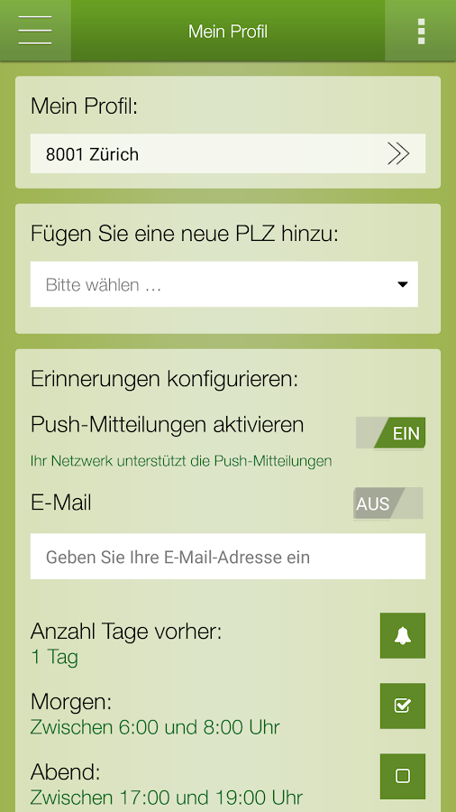 Sauberes Zürich- screenshot