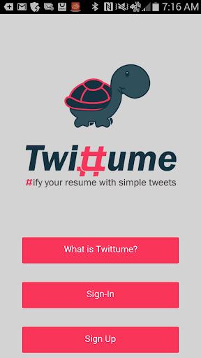 Twittume - Resume builder