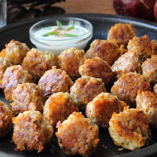 Sausage Cheese Balls - Rolling into Christmas
