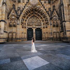 Gorgeous beauty by DMYTRO SOBOKAR - Wedding Bride ( weddingphotography, church, art, architecture, beauty, weddingphotographer, sobokar.com, weddingdress, wedding, pentaxk1, sobokar, cathedral, bride, prague, weddingphoto )