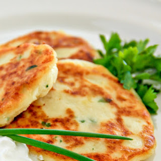 Easy Mashed Potato Pancakes.