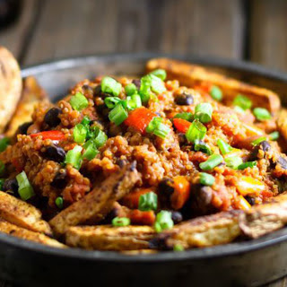 All-American Quinoa Chili Fries [Vegan].