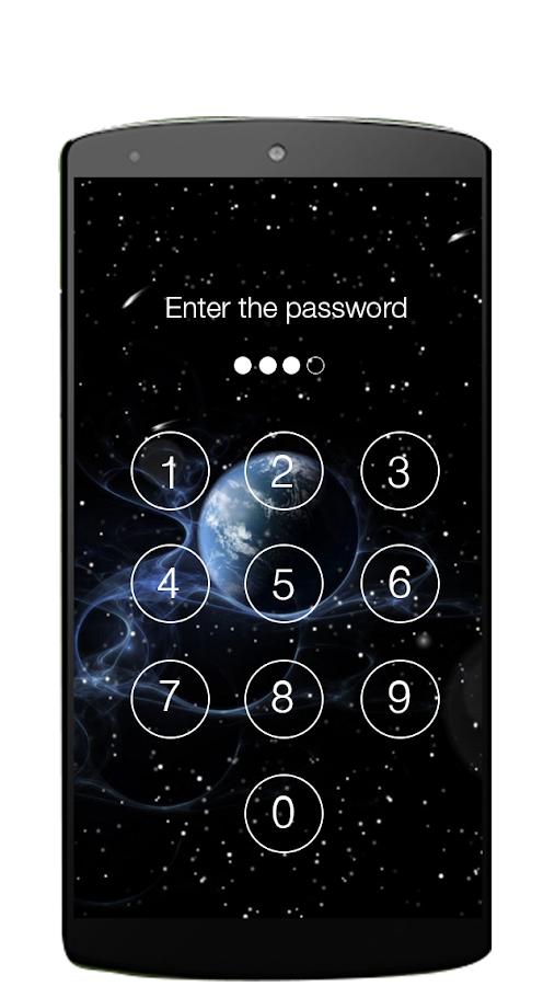 Lock screen password- screenshot