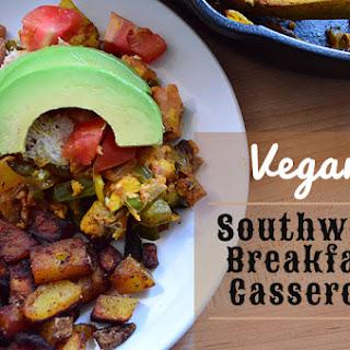 Vegan Breakfast Casserole Southwest Style.