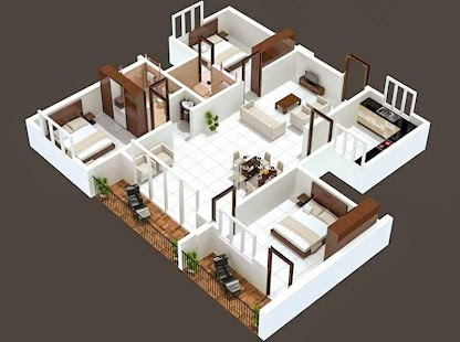 3D House Plan Designs - náhled