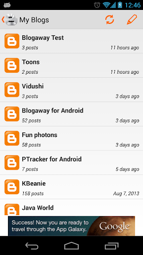 Blogaway for Android (Blogger) 7.0.8 screenshots 2