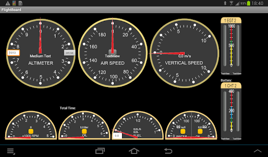 Aircraft instrument panel- screenshot thumbnail