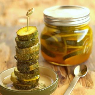 Refrigerator Zesty Zucchini Pickles.