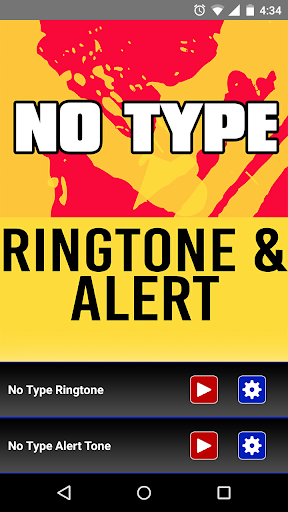 No Type Ringtone and Alert