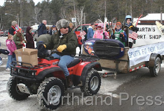 Photo: Martin's Sport Shop Float in the Nisswa Jubilee Parade  - photo by Joanne Boblett
