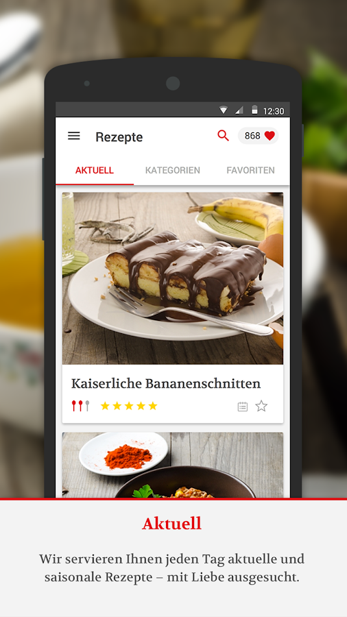 KochAPP- screenshot