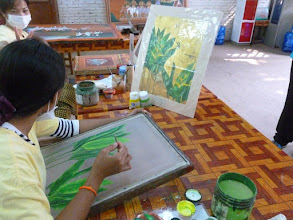 Photo: During our last morning in Cambodia, I visited the Artisan Angkor School that provides art vocational training for 18-25 year olds.