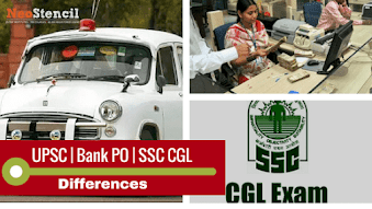 Differences between Bank PO, SSC CGL and UPSC exam preparation