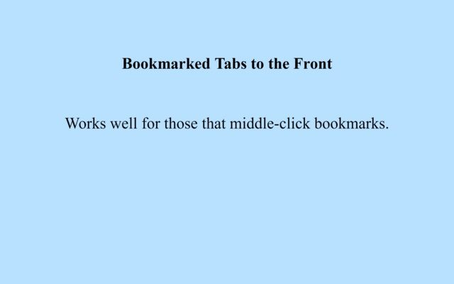 Bookmarked tabs to the front