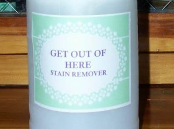 Get Out Of Here Homemade Laundry Stain Treatment