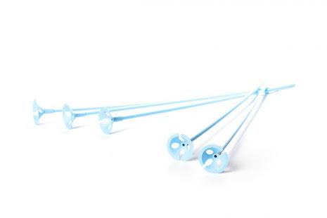 Ballongpinnar 10-pack - ljusblå