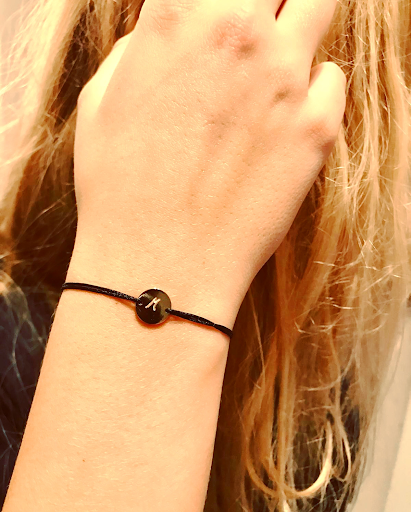 bracelet petite pastille plate