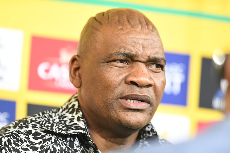 Bafana Bafana coach Molefi Ntseki during the 2022 TOTAL Africa Cup of Nations Qualifier match between SA and Ghana at FNB Stadium on March 25 2021 in Johannesburg. Picture: GALLO IMAGES/LEFTY SHIVAMBU