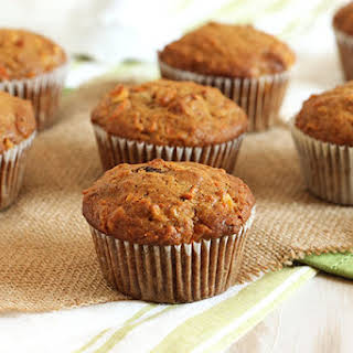 Whole Wheat Morning Glory Muffins.
