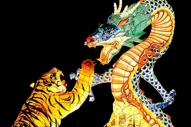 เสือ มังกร
