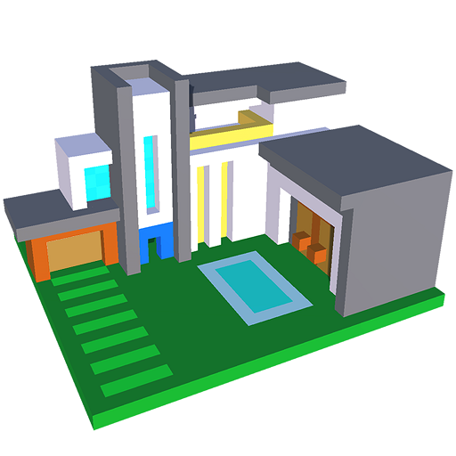 Modren Houses 3D Color by Number - Voxel Colouring Icon