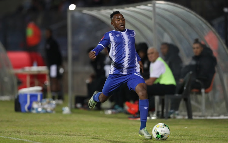 Lebohang Maboe of Maritzburg United during the Absa Premiership match against Ajax Cape Town at Harry Gwala Stadium on August 23, 2017 in Durban, South Africa.