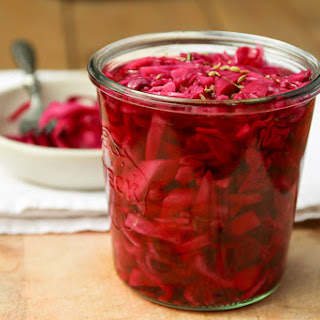 Quick Pickled Red Cabbage.