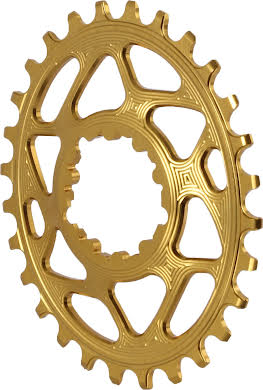 Absolute Black Spiderless GXP Direct Mount Oval Chainring for Boost alternate image 0