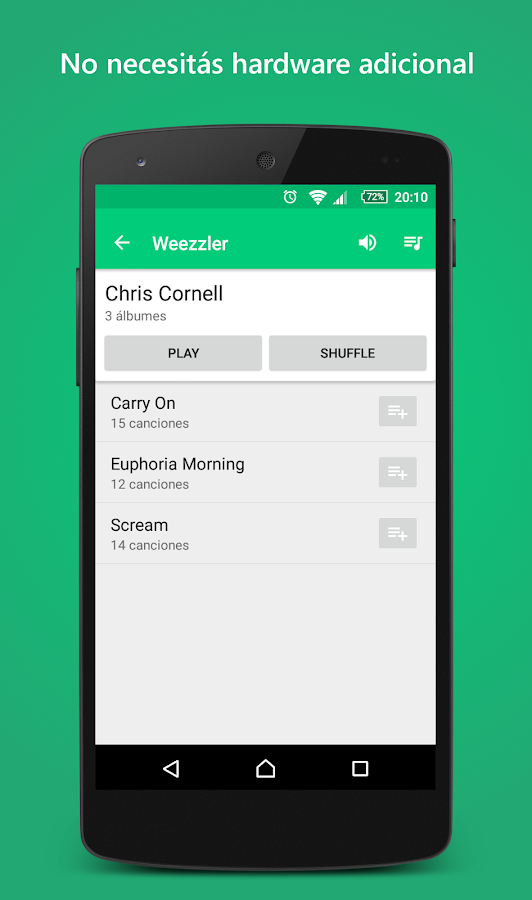 Wireless Music & Video Player: captura de pantalla