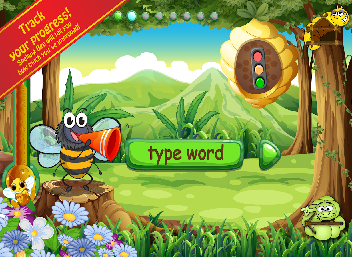 Spelling Bug 1st Gr Words Lite- screenshot